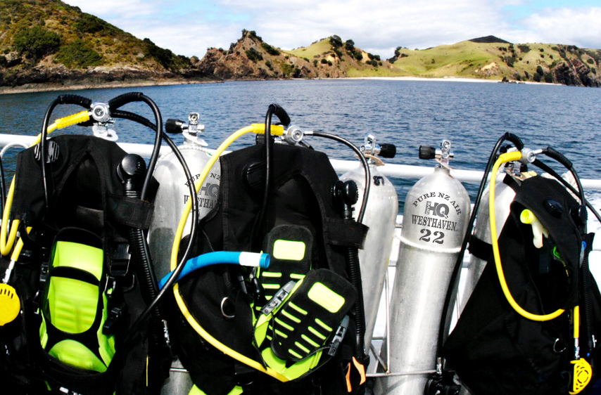 Diving Equipment on a Diving Boat Cruise.